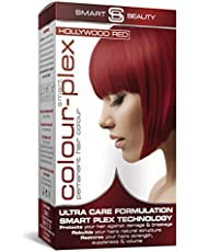 Smart Beauty   Hollywood Red Permanent Hair Dye  Professional Salon Quality Hair Colour   With Smart Plex Anti-breakage Technology. PPD FREE. Vegan hair dye. Not tested on animals