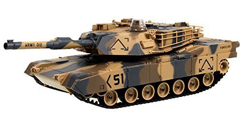 "M1A2 Abrams USA Battle Tank RC 16"" Airsoft Military Vechile - Desert Camouflage"