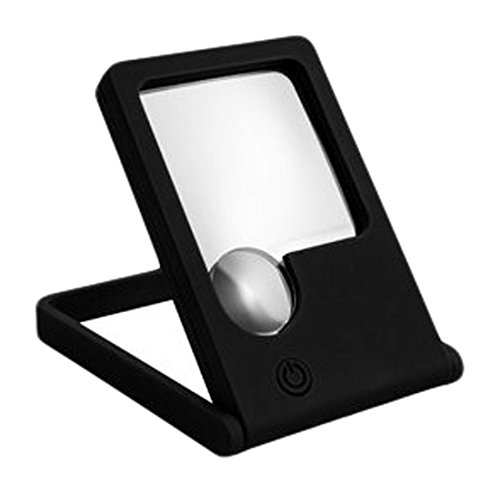 StealStreet SS-KD-2100 Light Up Square Magnifier with 2.5X Magnification, 3.6'', Black by StealStreet (Image #1)