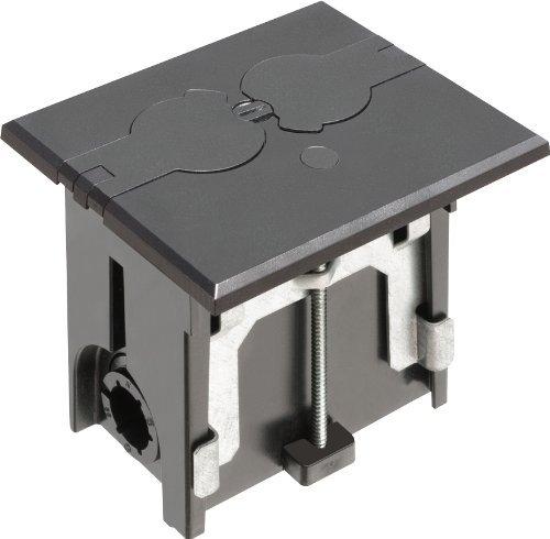 Arlington FLBAF101BL-1 Adjustable Floor Box Kit with Outlet and Flip Plate, for Installed Floors, 1-Gang, Black, 1-Pack by Arlington Industries