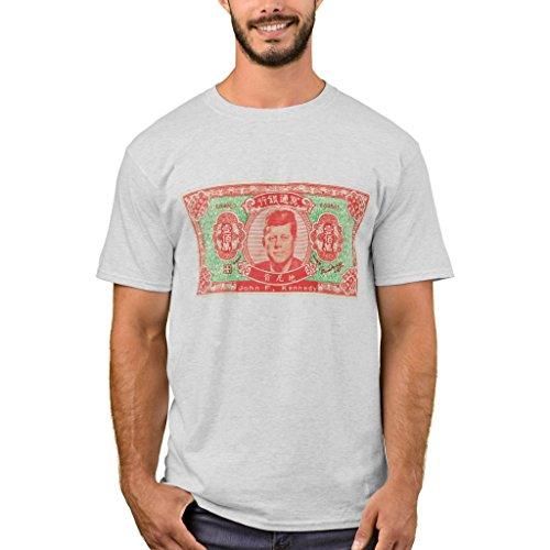 -Shirt, Vintage Joss Play Money John F Kennedy T-Shirt, Ash M (Kennedy Ash Grey T-shirt)