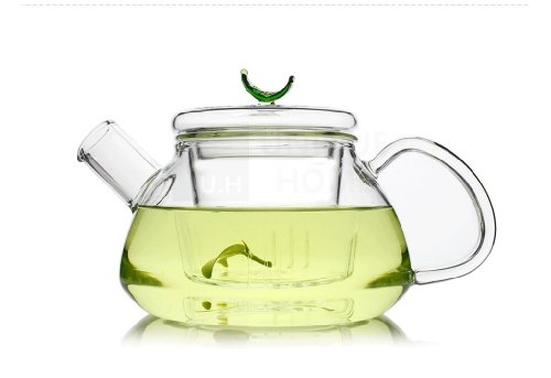 Teapot with Infuser (300 Milliliter 10 Ounce) Loose Fruit Flower Hibiscus Tea Strainer Pot Set Made of Tempered Borosilicate Glass Novelty Handmade Kettle for Afternoon Tea - Loarre Unihom