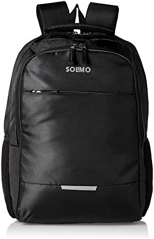 Amazon Brand – Solimo Laptop Backpack for 15.6-inch Laptops, 30L (Black)