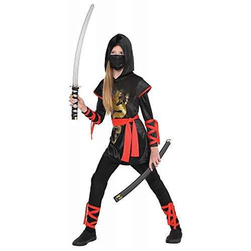 (AMSCAN Ultimate Ninja Halloween Costume for Girls, Medium, with Included)