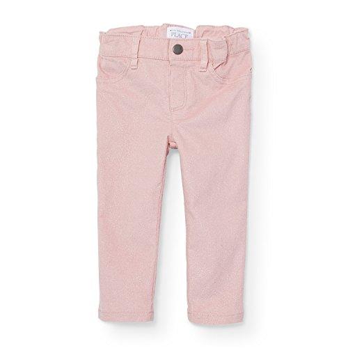 The Children's Place Baby Little Girls' Solid Velvet Jegging, Pink Sea Salt 88396, 2T - Sea Velvet