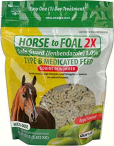 Durvet/Equine 699758 1 lb Horse to Foal 2X Safe-Guard Dewormer