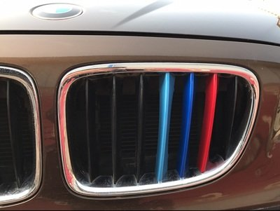 7 Beams Lanyun BMW M Colors Grille Insert Trims Decorate For 2016-up X1 Front Center Kidney Grilles red blue light blue