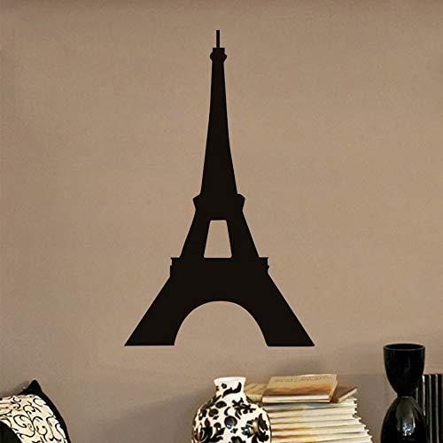París Torre Eiffel Silueta Tatuajes de Pared Ciudad Punto de ...