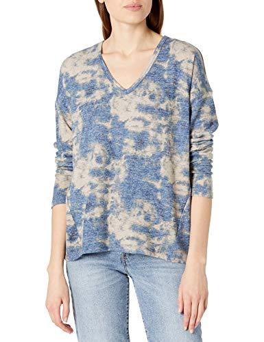 Lucky Brand Long Sleeve V-Neck Hacci Top Dames Overhemd