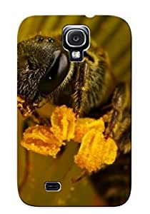New Style Trinalgrate Bee Close Up Premium Tpu Cover Case For Galaxy S4 by lolosakes