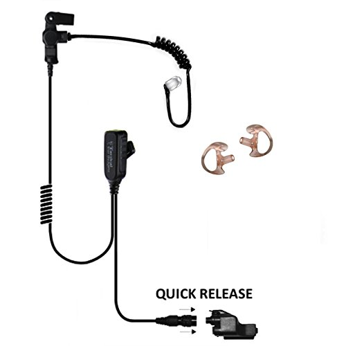 EP1323QR Hawk Lapel Microphone for Motorola XTS5000 XTS3000 XTS2500 Radio (Black Tube) by Tactical Ear Gadgets