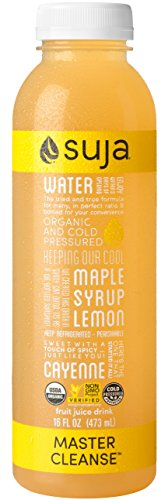Suja Organic Cold-Pressed Juice, Master Cleanse, 16 Fl Oz (Pack of 6), 100% Plant-Powered Vegetable and Fruit Juices, Vegan, Gluten-free, Non-GMO, Made in USA