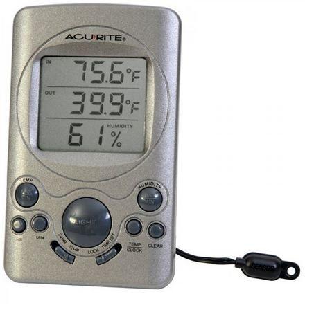 Чейни инструменты Acu-Rite 00891A1 Крытый и Открытый термометр с Влажность