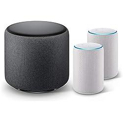 Echo Sub Bundle with 2 Echo Plus (2nd Gen) Devices - Sandstone