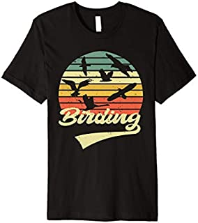 Birding Birdwatching Vintage Retro  Bird Watcher gift Premium T-shirt | Size S - 5XL