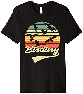 Birding Birdwatching Vintage Retro  Bird Watcher gift Premium T-shirt   Size S - 5XL