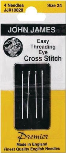 Easy Threading (Calyxeye) Hand Needles -Size 24 4/Pkg John James Easy Threading Needles