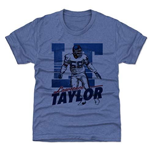 500 LEVEL Lawrence Taylor New York Giants Youth Shirt (Kids Small (6-7Y), Tri Royal) - Lawrence Taylor Retro B
