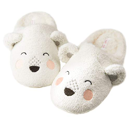 Women's Cozy Fleece Memory Foam House Trick Treat Halloween Slippers 5-6 M US, The Napping Bear (Bear Women For House Slippers)