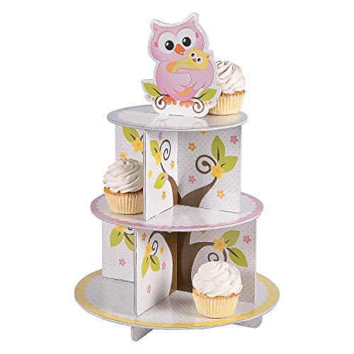 Fun Express - Owl Baby Shower Cupcake Holder for Baby - Party Supplies - Serveware & Barware - Misc Serveware & Barware - Baby - 1 Piece ()
