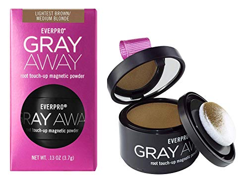 Everpro Gray Away Root Touchup Powder Light Brown/Medium Blonde 0.13 Ounce (4ml) (2 Pack)