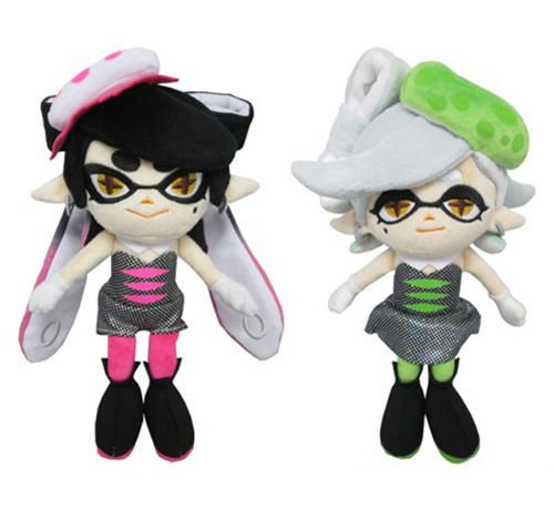 Sanei Marie Green & Callie Pink Squid Sisters Splatoon Series Plush (Set of 2) by Sanei