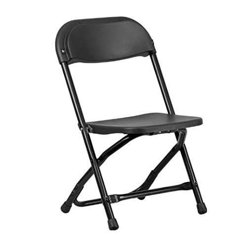 FLASH FURNITURE 4 PACK Kids Black Plastic Folding Chair