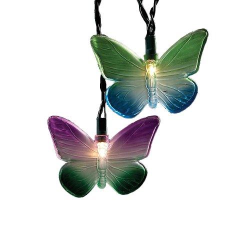 Kurt Adler UL1141 Multi-Colored Butterfly Light Set, 10 Light by Kurt Adler