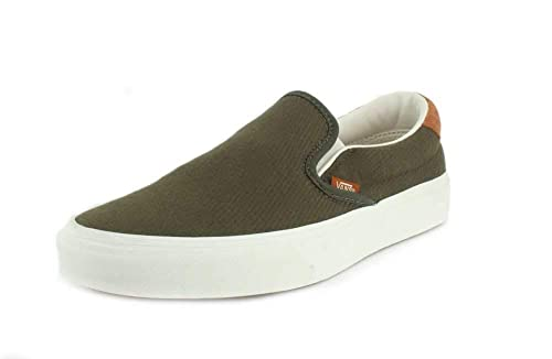 VANS - Sneaker Classic Slip ON 59 - Flannel Olive: Amazon.es: Zapatos y complementos