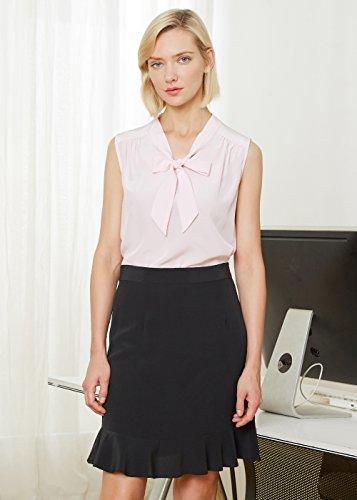 LILYSILK Blusa de Mujer Elegante de Seda Natural 18MM Rosa Claro