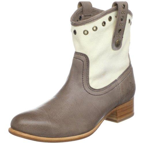 FRYE Women's Amelia 77206 Ankle Boot, Grey, 5.5 M US