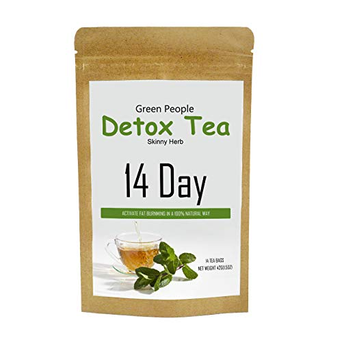Detox Tea,Green People Diet Tea Fights Bloating and Appetite Suppressant, 14/28 Servings - Green Tea Slimming Way to Release Toxins for Weight Loss, Reduce Bloating, Boost Metabolism (14)