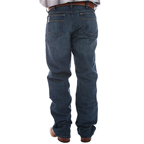 Cinch Men's White Label Relaxed Fit Jean, Dark Wash, 32W x 34L (Mens Cinch)