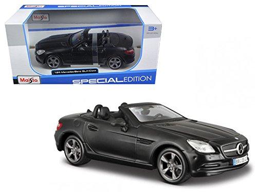 Price comparison product image Maisto 2011 2012 Mercedes SLK Class Convertible Matt Black 1 / 24 Model Car