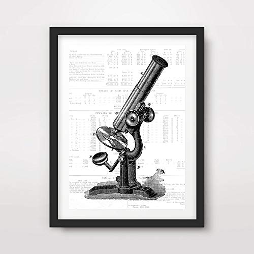- MICROSCOPE BLACK WHITE MEDICAL ART PRINT ANATOMICAL ANATOMY MEDICINE HUMAN BODY BIOLOGICAL CHART DIAGRAM ILLUSTRATION VINTAGE ANTIQUE Poster Home Decor Wall Picture A4 A3 A2 (10 Size Options)