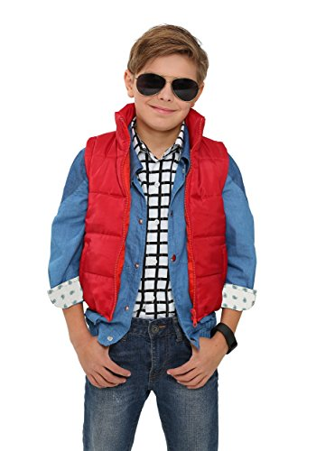 [Fun Costumes boys Back to the Future Child Marty McFly Vest Standard] (Marty Mcfly Costumes)