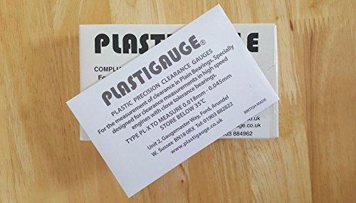 "Plastigauge Plastic Precision Clearance Gauge 0.001/"" 0.007/"" 10 Pcs Plastigage"