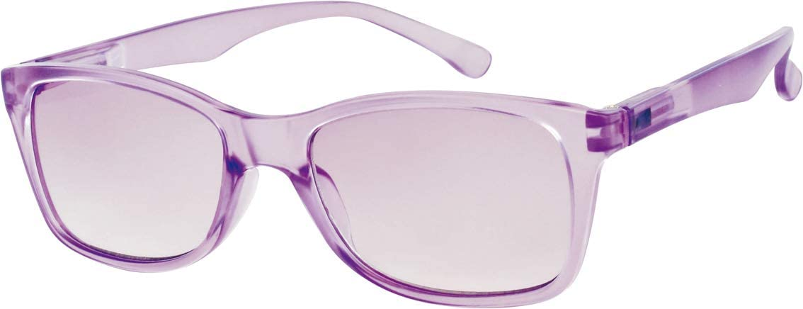 L63 Opticollection Gafas de Lectura para vista cansada con Funda Hombre | Mujer | Lentes Graduadas para Presbicia Filtro Protección Solar: +1/ +1.5/ +2/ +2.5/ +3/ +3.5 (+2.50, Lila)