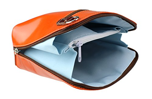 Handbags Orange Bolso Girly de Piel mujer para Chocolate cruzados gqvdPxwdF