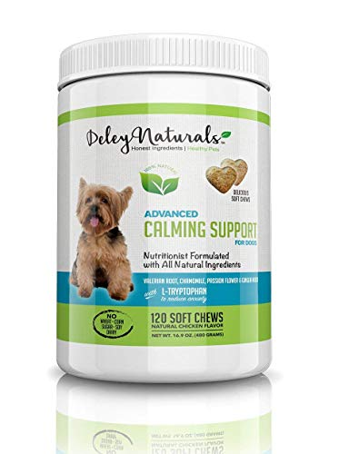 Deley Naturals Pet Supply Glucosamine for Dogs Chewable Tablets by Advanced All Natural Dog Glucosamine Chondroitin MSM Supplement, Omega 3 - Ultimate Cartilage Support & Arthritis Pain Relief for Dog