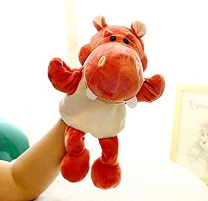 Animal Hand Puppet Cute Cartoon Plush Toy Doll Parent-Child Game Kindergarten Story Props Finger Doll Baby Toy 30Cm Pink Pig