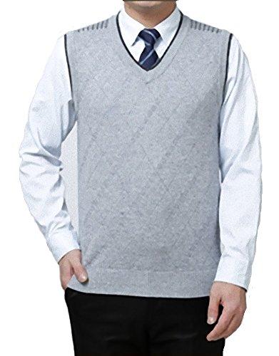 コーデリア捕虜明日(NAIL39) メンズ Vネック ベスト チョッキ ニット セーター ウール ビジネス フォーマル ウォームビズ おしゃれ 秋冬
