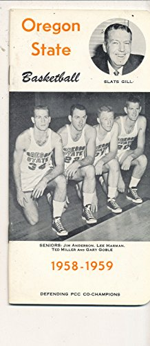 - Oregon State 1958 - 1959 Slats Gill Basketball press Media guide bxpac10