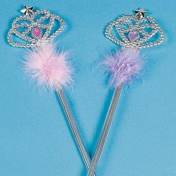 Fun Express Plastic Jeweled Princess Wand Assortment Toy (6 Piece) (Wand Jeweled)