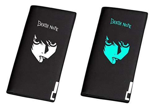 Piccolo Borsellino Cosstars Sottile Slim Anime Nero In Portafoglio Anohana Luminoso Sintetica Death Note 1 Wallet Uomo Portamonete Pelle 2 vrP8vq