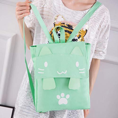 a bello della scuola dello adolescente zaino Schoolbags di zaino di nylon Borsa Green della dello ragazza casuale tracolla dw6nq7O