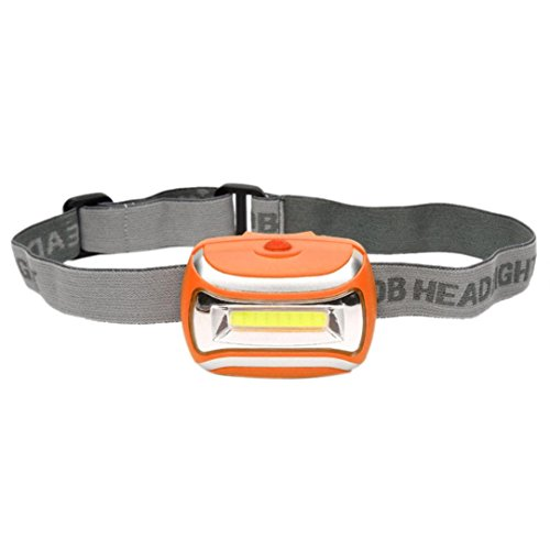 Mchoice Cob Outdoor LED Head Lamp Torch 5W headlight 600 Lumens Bright Adjustable Angle (Orange)