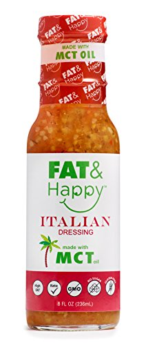 FAT & Happy Italian Dressing 8oz, made with MCT Oil, Keto by FAT & Happy