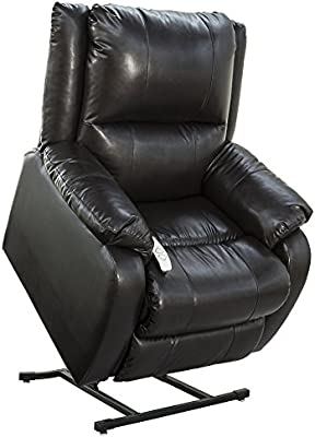 "NM-2650 (Sta-Kleen Vinyl-Black) Mega Motion Power Lift Recliner Chair.Weight Capacity: 375 lb. Suggested User Height: 5'6"" to 6'. Free Curbside Delivery."
