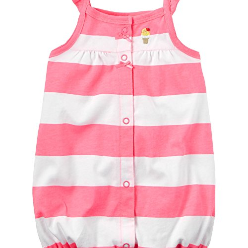 Carter's Baby Girls' Snap-Up Cotton Romper (24M, Ice